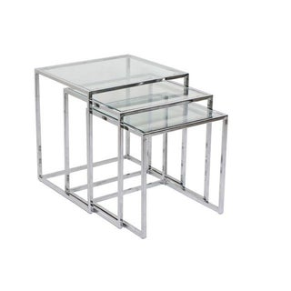 Milo Baughman Chrome Nesting Tables - Set of 3