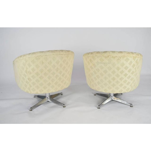 Pair of Ward Bennett Swivel Lounge or Club Chairs - Image 3 of 6