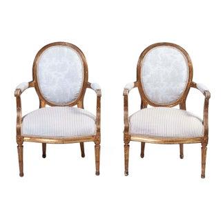 Louis XVI-Style Chairs, Pair