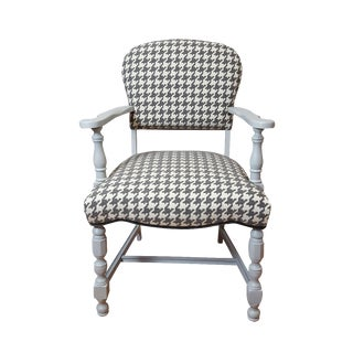 Vintage Houndstooth Accent Chair
