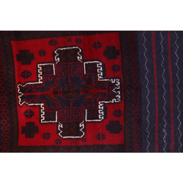 Handknotted Wool Balouch Persian Rug - 2′8″ × 4′7″ - Image 8 of 11