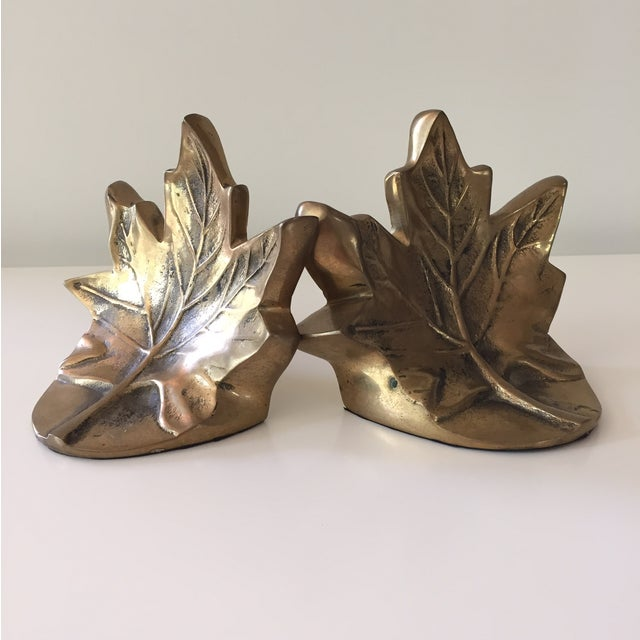 Brass Leaf Bookends - Image 2 of 5