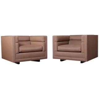 Pair of Club Chairs by Dunbar