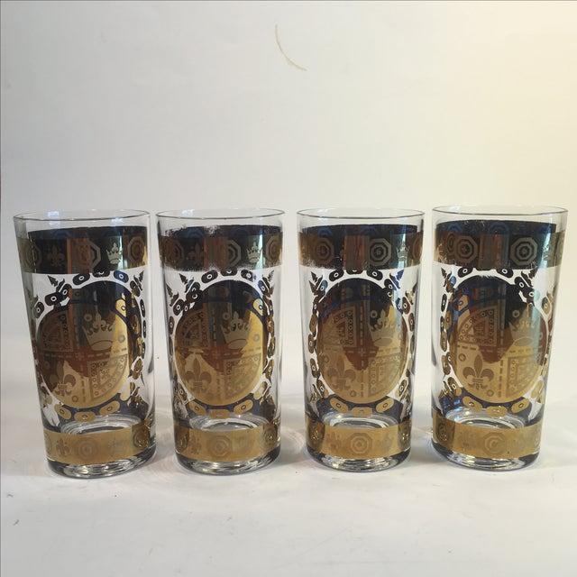 Image of Mid-Century Vito Bari Gilded Tumblers - Set of 4