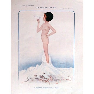 "Raphael Kirchner 1913 La Vie Parisienne ""Beautiful Month of May"" Print"