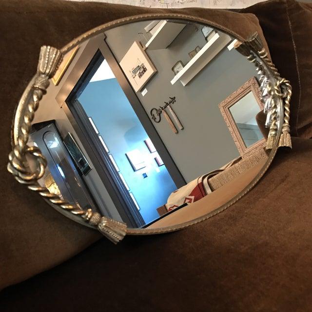 Brass Tassel Mirrored Vanity Tray - Image 3 of 6