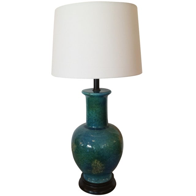 Turquoise Mid-Century Modern Vase Table Lamp - Image 1 of 5