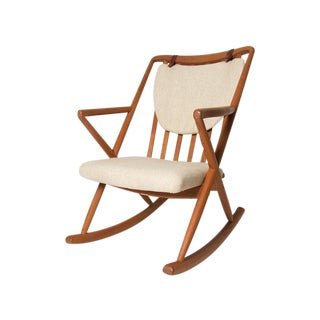 Benny Linden Vintage Honey Teak & Cream Rocker