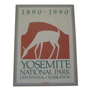 Vintage 1990 Centennial Yosemite Poster
