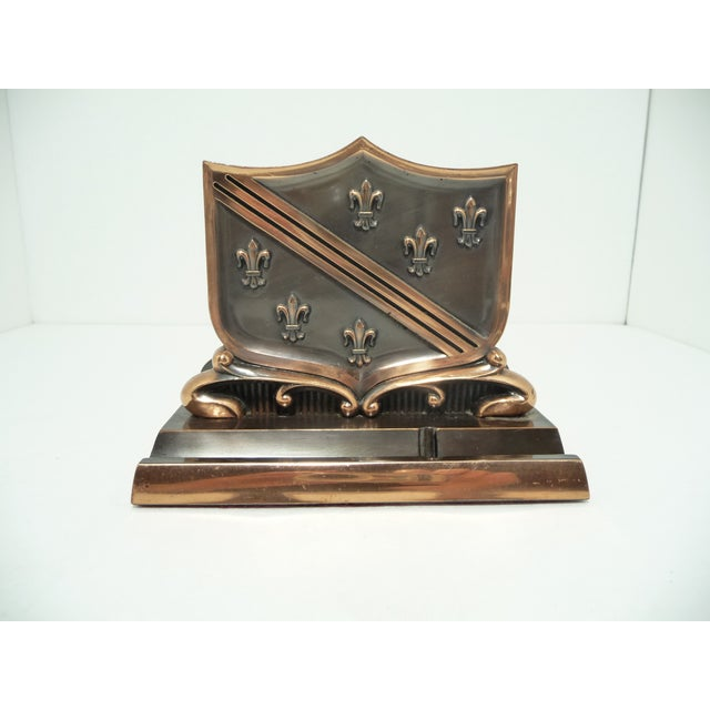 French Fleur De Lis Copper Finish Letter Holder - Image 2 of 7
