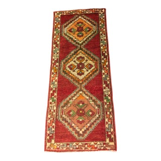 "Vintage Turkish Anatolian Rug - 1'2""x2'11"""