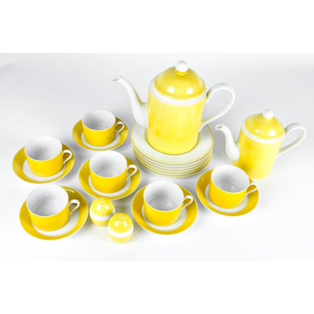 Vintage Lemon Porcelain Luncheon Service - Image 3 of 11