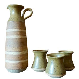 Victoria Littlejohn Stoneware Pitcher & Cups - S/4