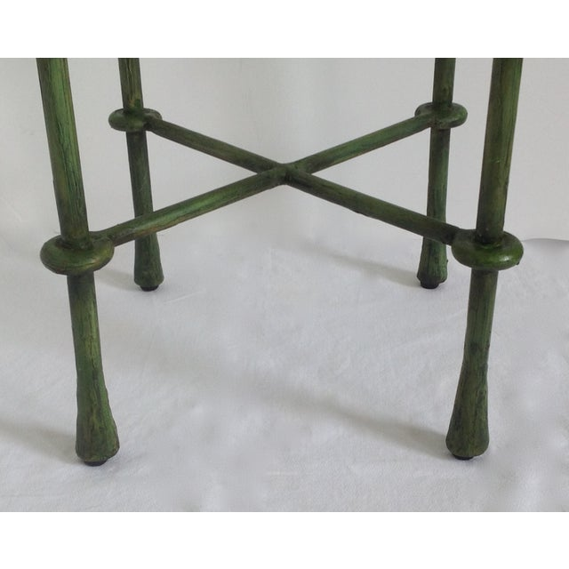 Giacometti-Style Forged Round End Table - Image 10 of 11