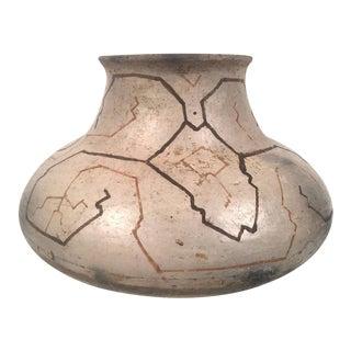 Hand-Painted Peruvian Shipibo Pottery Vase