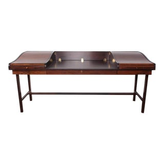 Rosewood Roll Top Desk by Edward Wormley for Dunbar