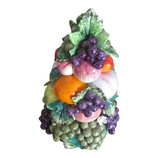 Vintage Porcelain Fruit Topiary