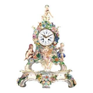 19th Century Porcelain Four Seasons Clock by Meissen