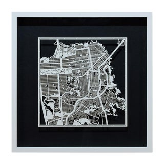 Sarreid Ltd. San Francisco Framed Map
