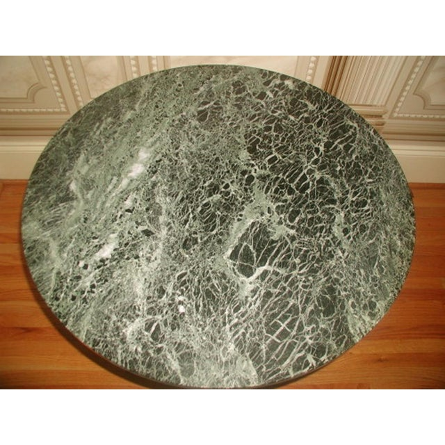 Bronze Neoclassical Marble & Mirror Coffee Table - Image 5 of 10