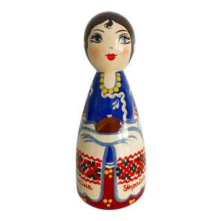 Hand Painted Russian Doll Figurine