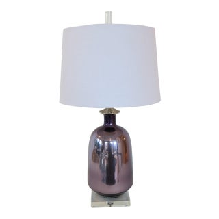 Orchid Mercury Glass Lamp