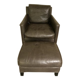 Room & Board Bram Leather Chair & Ottoman