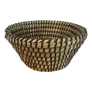 Pine Needle Hand Woven Basket