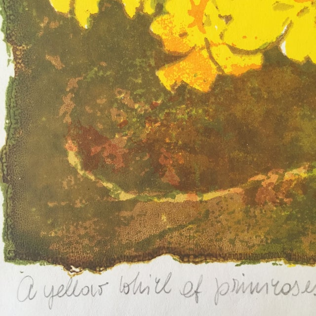 """Image of """"A Yellow Whirl of Primrose"""" Woodblock"""