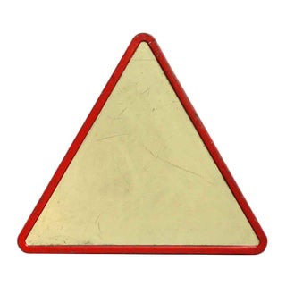 Vintage Triangle Road Sign