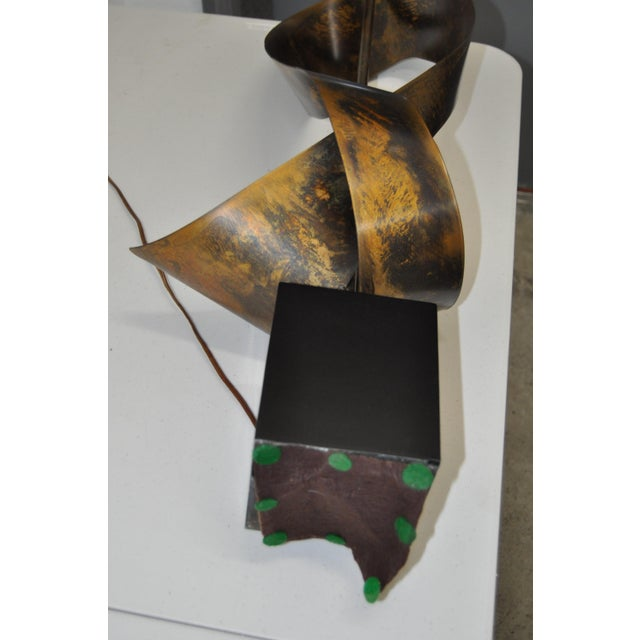 C.1960s Harry Balmer Sculptural Steel & Bronze Lamp - Image 9 of 9