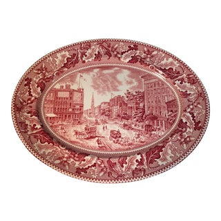 Vintage Johnson Bros. Transferware Platter