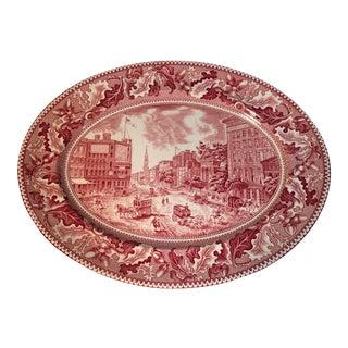 Vintage Johnson Bros. Transferware Platter