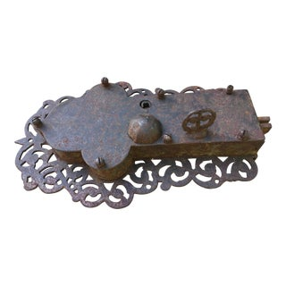 Large Antique Medieval Irish Castle Door Lock