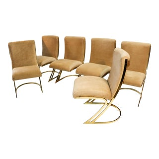 Pierre Cardin Mid-Century Brass Dining Chairs - Set of 6