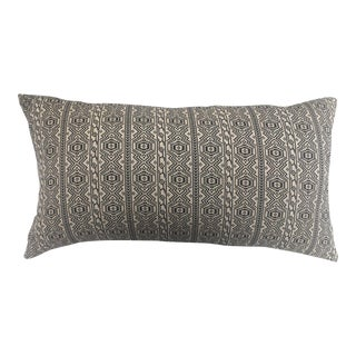Black & White Tribal Textile Pillow