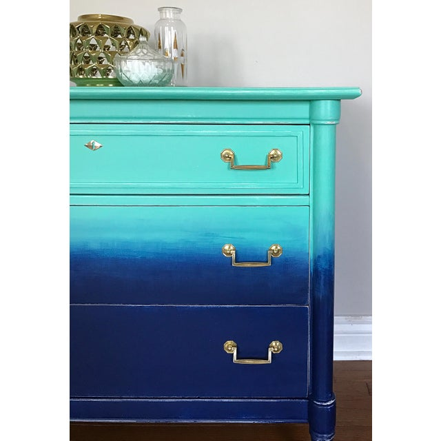 Turquoise & Navy Ombré Dresser - Image 6 of 8