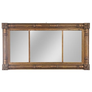 Large Gilt Three Part Mirror