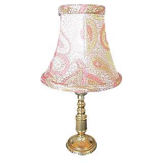 Gustavian Style Round Brass Lamp