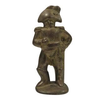 Vintage Solid Brass Soldier