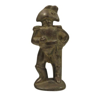 Vintage Solid Brass Soldier