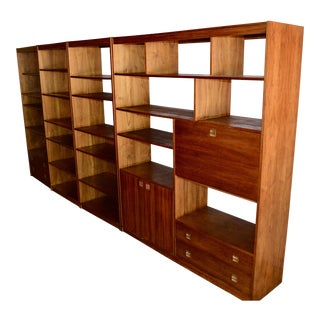 Mid-Century Modern Wall Cabinets & Room Dividers- Set of 4