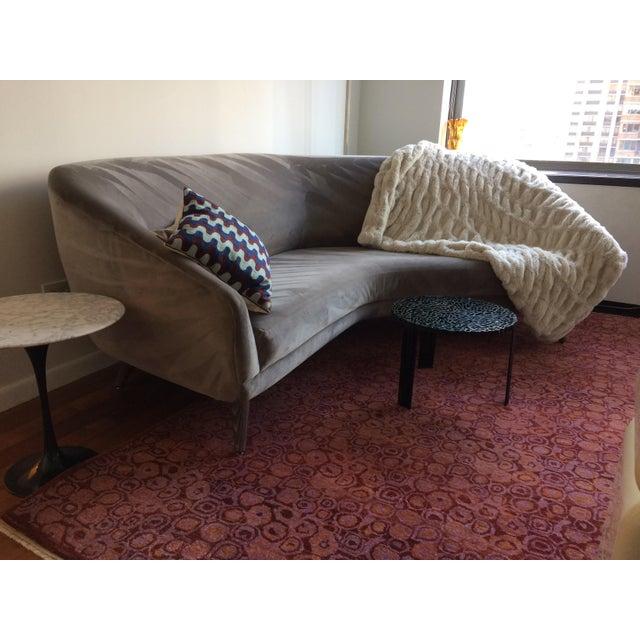 Vladimir Kagan for Weiman Gray Velvet Angled Sofa - Image 7 of 8