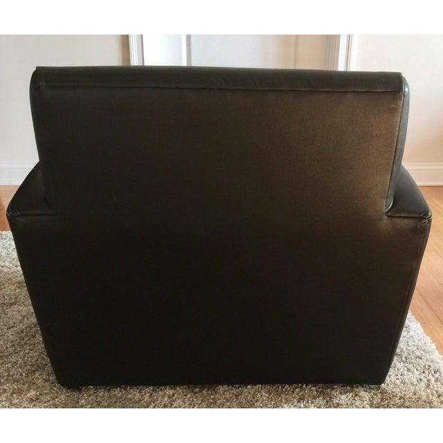 Jensen-Lewis Black Genuine Leather Chair - Image 5 of 10