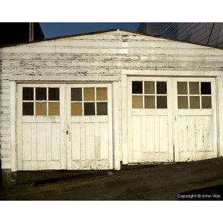 """Double Garage,"" Night Photograph by John Vias"