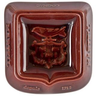 French Porcelain Martell Cognac Ashtray