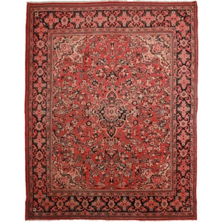 "Hand Knotted Wool Persian Mahal Rug - 10'3"" X 13'2"
