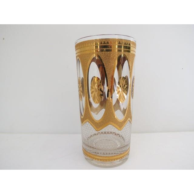 Vintage Hollywood Regency Gold Glasses - Set of 7 - Image 4 of 6