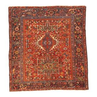 "Pasargad NY Antique Persian Karajeh Serapi Handmade Hand-Knotted Rug - 4'10""x5'3"""