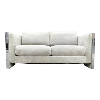 Selig Monroe Chrome Accent Loveseat
